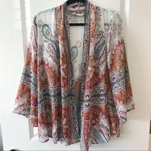 Soft Surroundings Catherine Topper Paisley Kimono